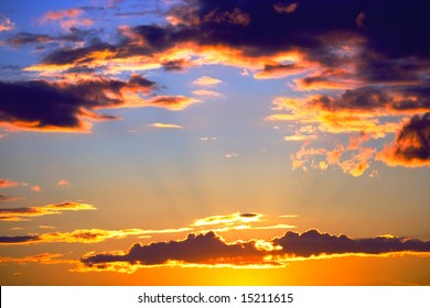 clouds of sunset