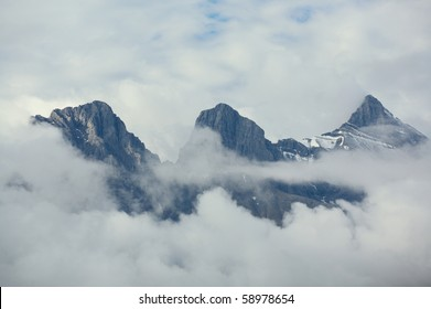 Clouds and Three Sisters mountain group