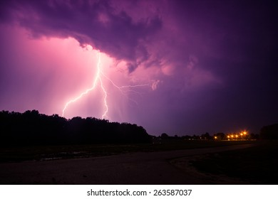clouds and thunder lightnings and storm in Hungary