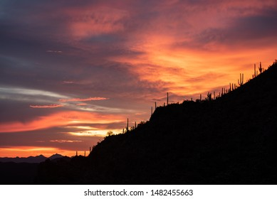 Clouds And Twilight On Gates Pass Arizona