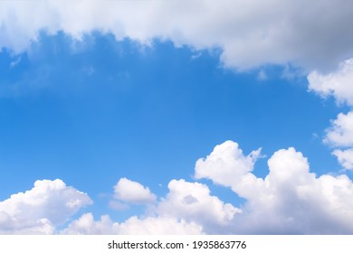 Clouds white on bright bluesky background