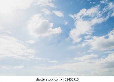 clouds white soft in the vast blue sky