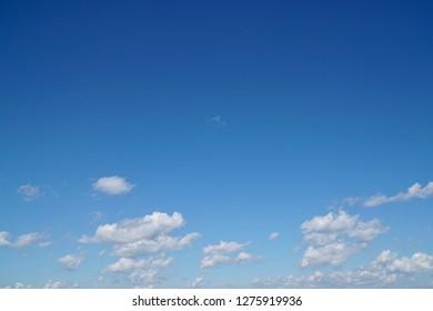 Clouds&blue sky clear days.
