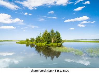 Cloudscape Above Lake Serenity