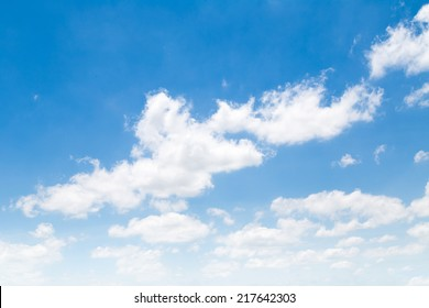 Cloudscape. Abstract cloud on blue sky.