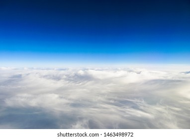 The cloudscape from the airplane