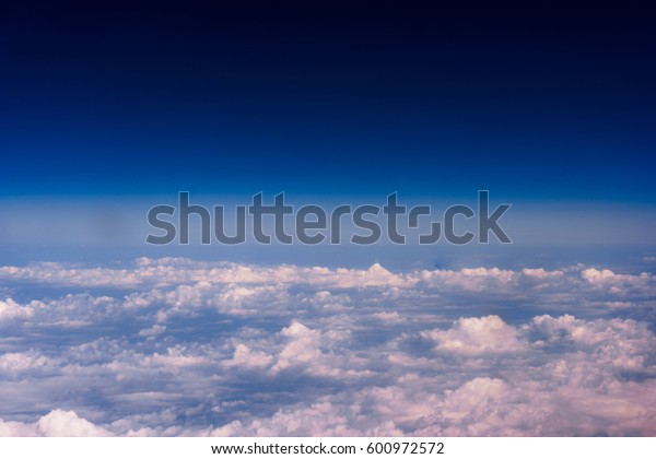 cloudscape background  view from airplane Windows