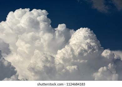 Cloudscape with big cumulonimbus clouds in the summer