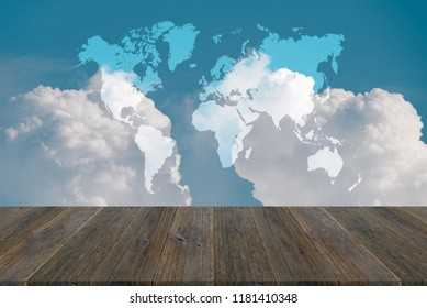 World map images stock photos vectors shutterstock cloudscape of natural sky with blue sky and white clouds in the sky use for wallpaper gumiabroncs Image collections