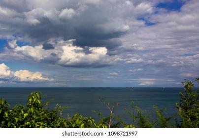 Cloudscape Over Bay Scene