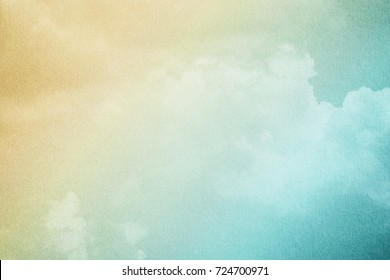 cloudscape with pastel gradient color and grunge texture, nature abstract  background
