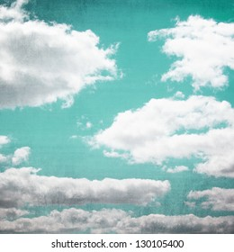 Cloudscape with vintage effects.