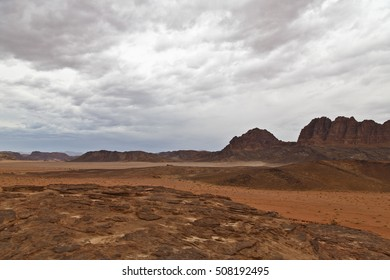 Cloudy afternoon in Wadi Rum desert