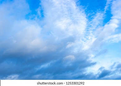 Cloudy blue skay at day