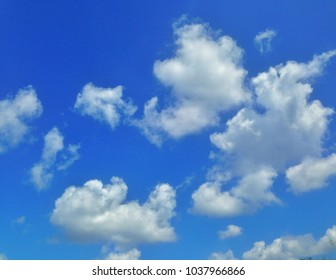 Cloudy and blue sky