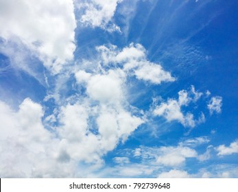 Cloudy with blue sky