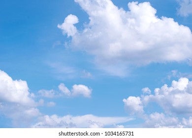 cloudy blue sky with cloud nature background