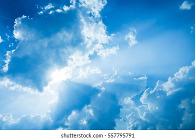 Cloudy Blue Sky, perfect for backgrounds, texts, etc