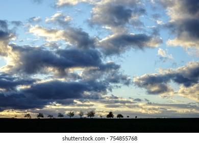 cloudy blue skys