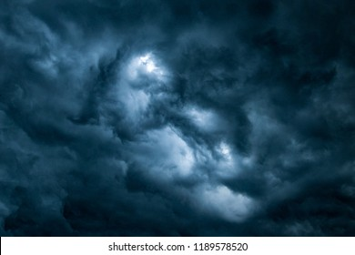 Cloudy, Clodus of rain, balck color of clouds, Rainy strom - Shutterstock ID 1189578520
