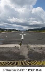 A cloudy Corfu runway, Corfu, Greece
