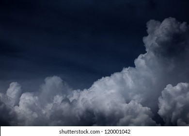 cloudy dark sky