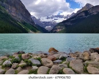 Cloudy day at Lake Louise, Banff National Park