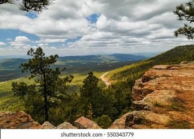 Cloudy day landscape, Mogollon rim, Payson, Arizona