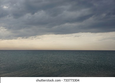 Cloudy day on the sea