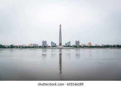 A cloudy day in Pyongyang, North Korea's capital.