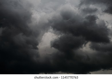 cloudy day with storm clouds