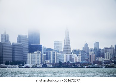 Cloudy Day Storm - San Francisco City Downtown, California, USA