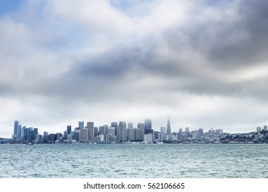Cloudy Day Storm - San Francisco City Downtown, California, USA