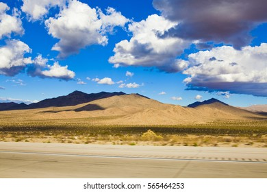 Cloudy Desert landscape tacked on The Road.