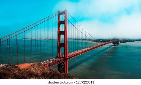 Cloudy Golden Gate Bridge