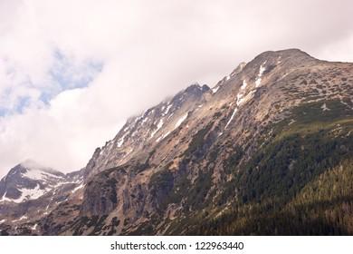 Cloudy High Tatras in Slovakia