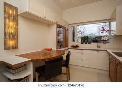 Cloudy home - bright interior of practical kitchen