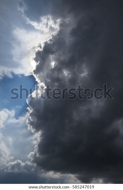 Cloudy landscape in France Europe