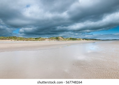 Cloudy landscape at Murlough Beach, Newcastle, Northern Ireland