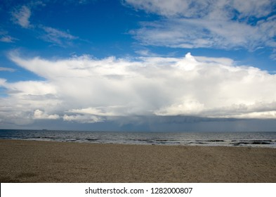 cloudy North Sea beach on Langeoog