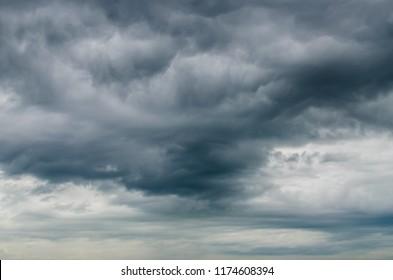 Cloudy overcast sky in rainy season.