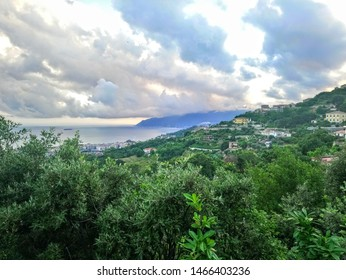 cloudy panorama of Salerno - Campania, Italy