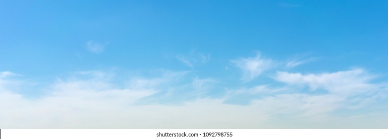 Cloudy skay background panorama