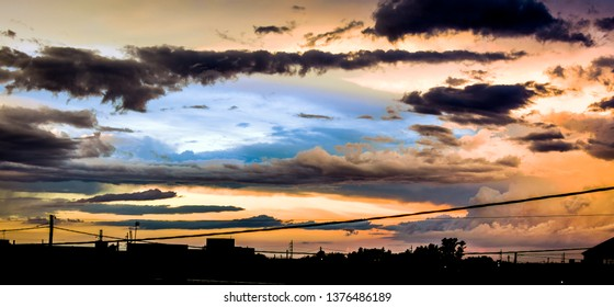 Cloudy skay with different set of colors.