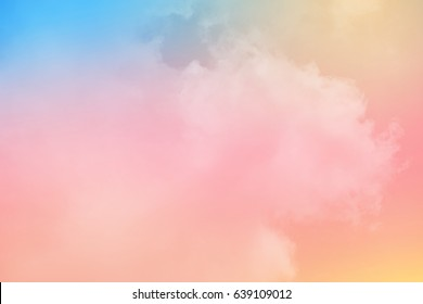 cloudy skay with pastel gradient color, nature abstract background