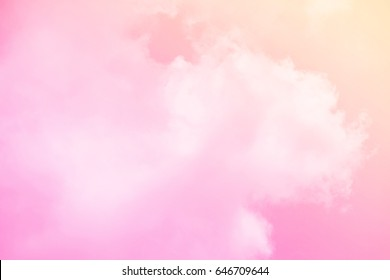 cloudy skay with pastel gradient color , nature abstract background