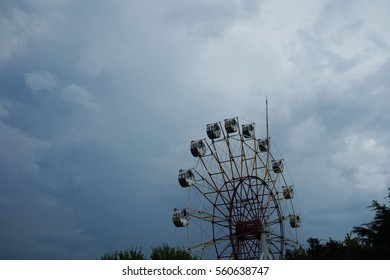 Cloudy skies and the Ferris wheel