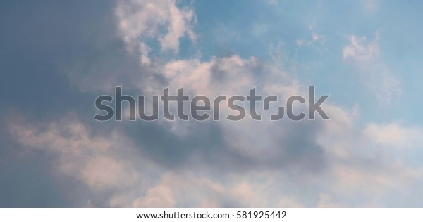 Cloudy sky above Thailand. Beautiful sky with cloudy weather.