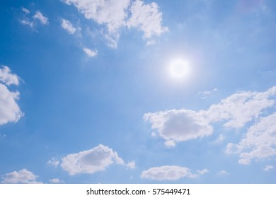 cloudy sky and blue clear sky clouds and sun background