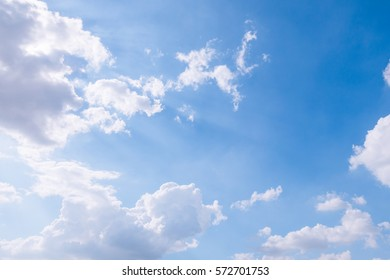 cloudy sky and blue clear sky with sun blast ray background